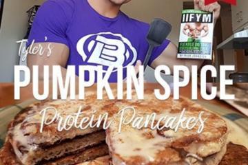 IIFYM Vanilla Pumpkin Spice Protein Pancakes